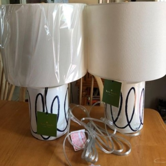 Kate spade other charlotte street navy swirl table lamps poshmark kate spade charlotte street navy swirl table lamps keyboard keysfo Images